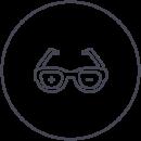 Symbol Brille
